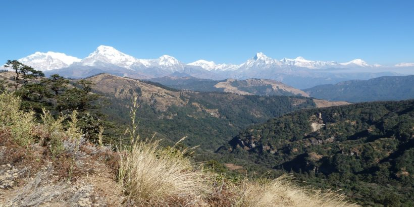 mountain view from khopra danda