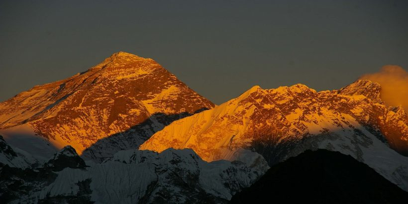 sunset in mt. everest